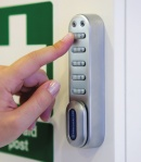 Push the button - keyless door entry