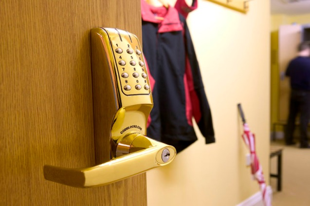 Securing doors in the golf clubhouse