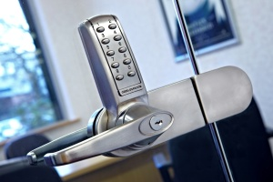 Digital door lock for glass doors