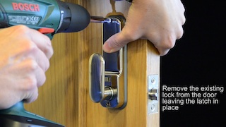 Removing existing lock small