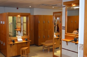 Locker room at The Fitness Society