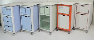Lockable bedside cabinets