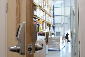 Smart lock entry to warehouse